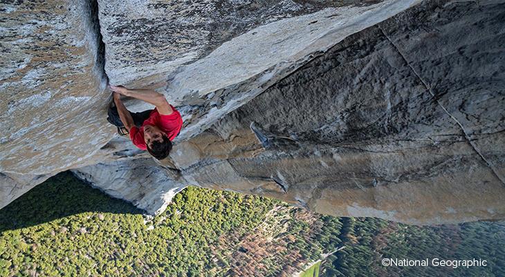Alex honnold kaya tırmanışı yaparken, Copyright National Geographic