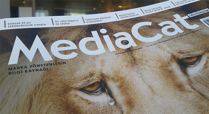 mediacat magazine cover with lion