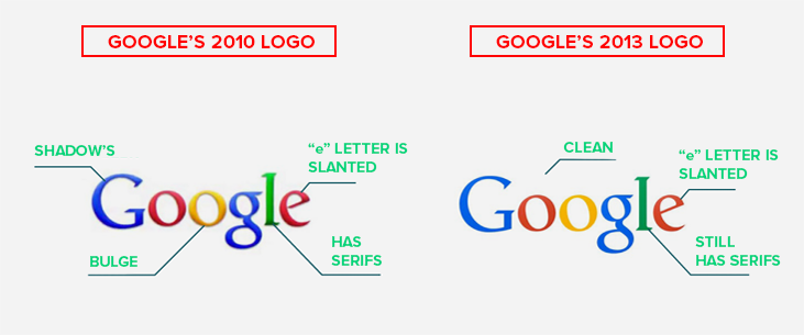 google old and new logo comparison