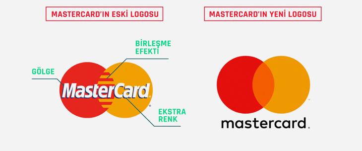 mastercard, eski ve yeni logo tasarımı karşılaştırması