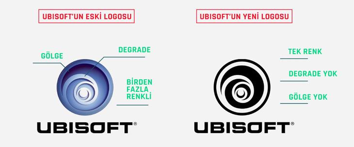 ubisoft eski ve yeni logo tasarımı karşılaştırması
