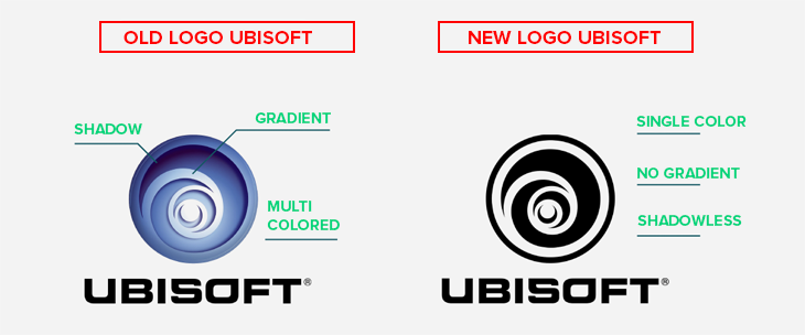 ubisoft old and new logo comparison