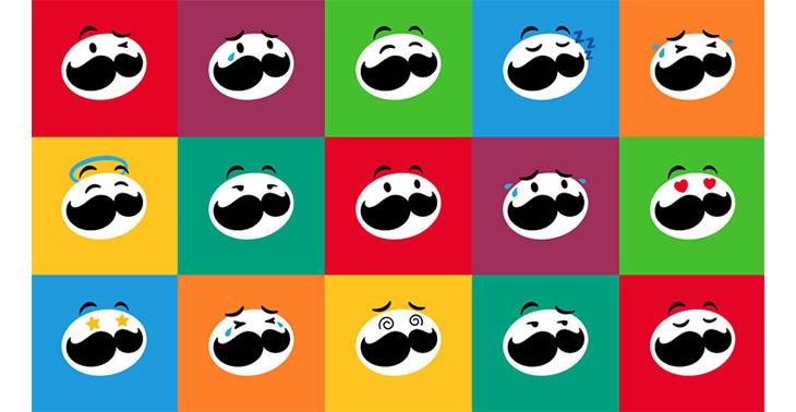 Pringles Yeni Logosu Karakterize Edilmiş