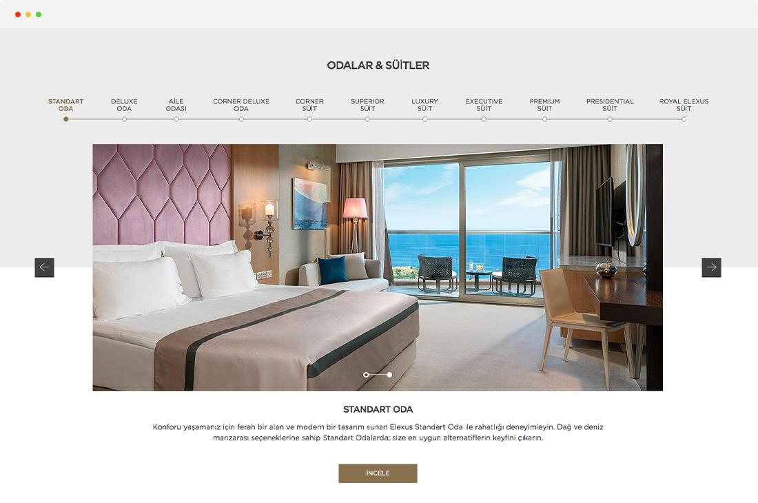 elexus hotel oda ve suitler