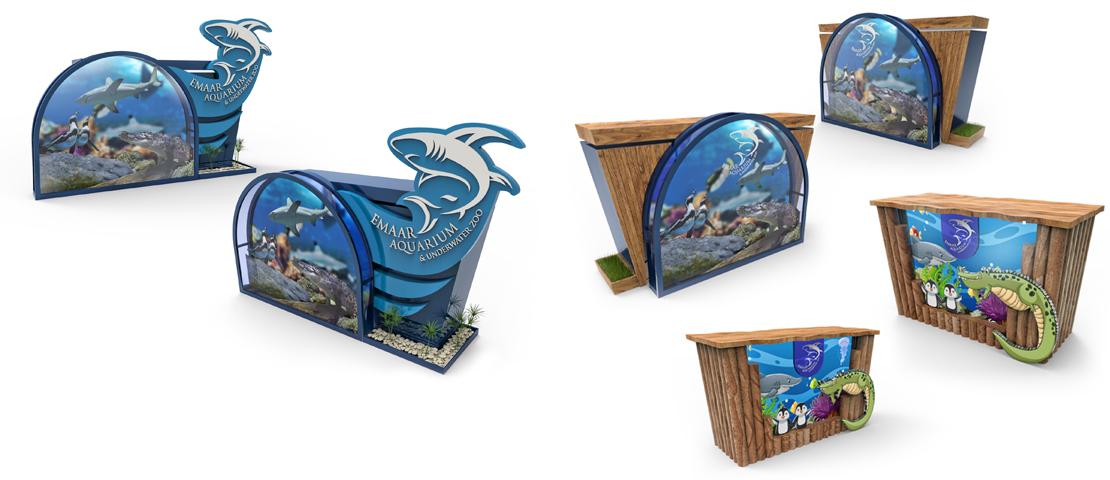 emaar aquarium indoor stand design