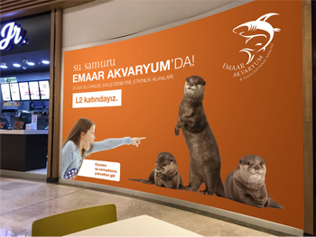 emaar mall outdoor branding