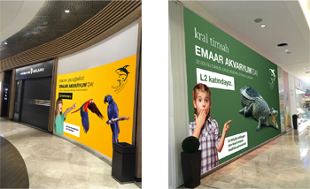 emaar mall indoor branding