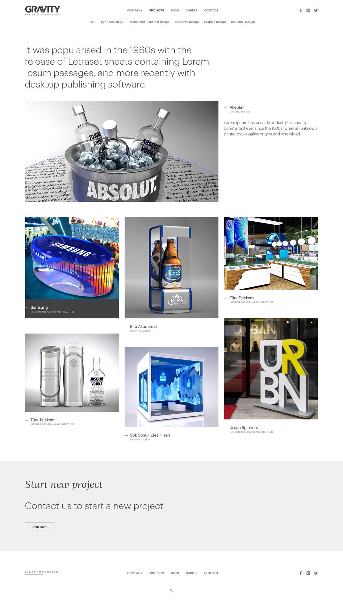 gravity mimarlık web arayüz tasarımı