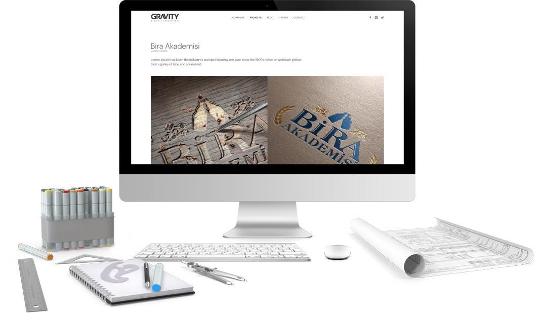 gravity mimarlık web tasarımı ve yazılım geliştirme