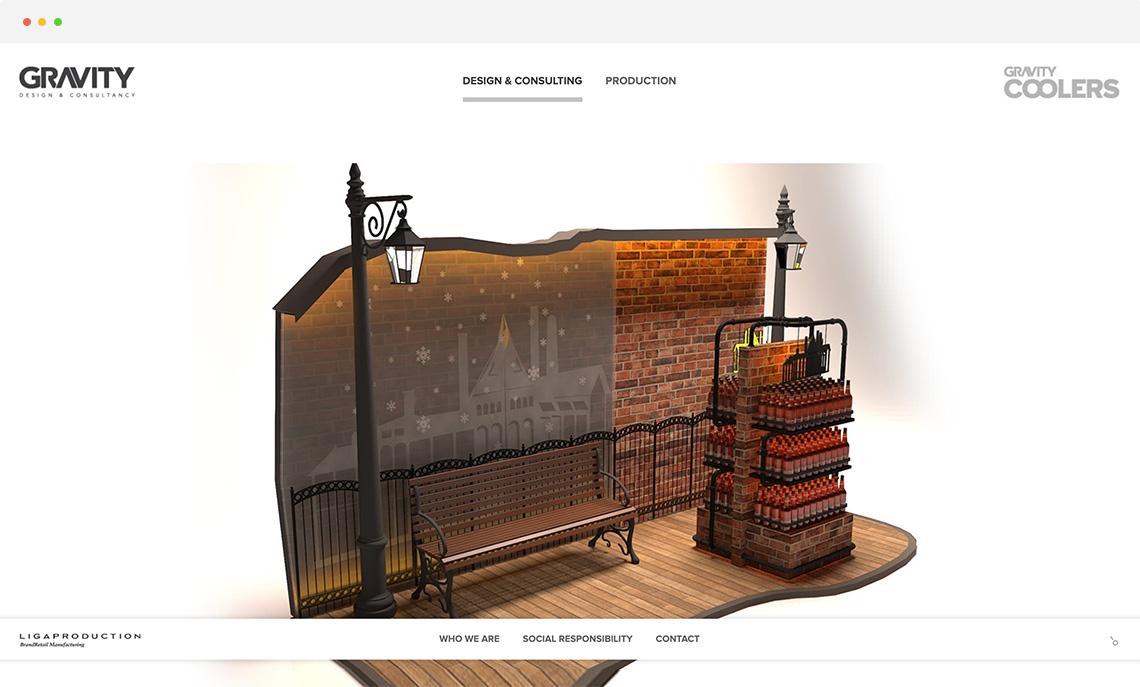 gravity mimarlık web ui/ux tasarımı