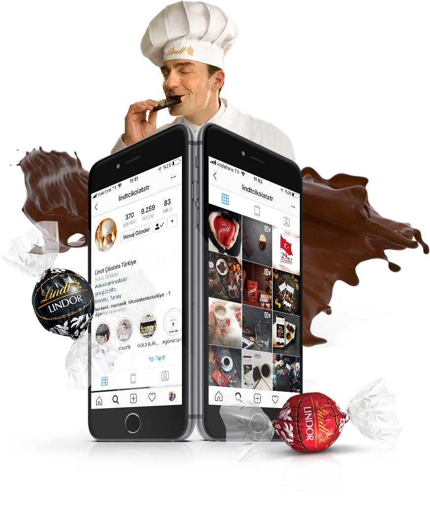 lindt chocolate social media management