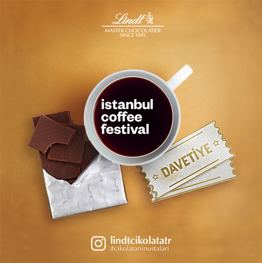 lindt istanbul coffee festival social media visual design