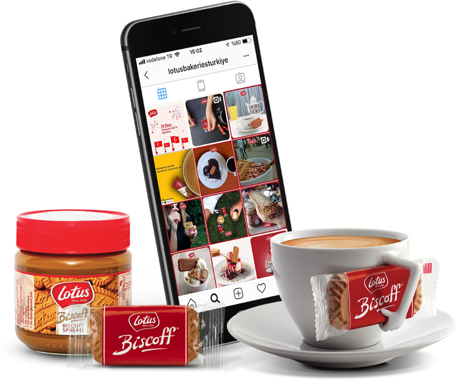 lotus biscoff social media communication creative visual