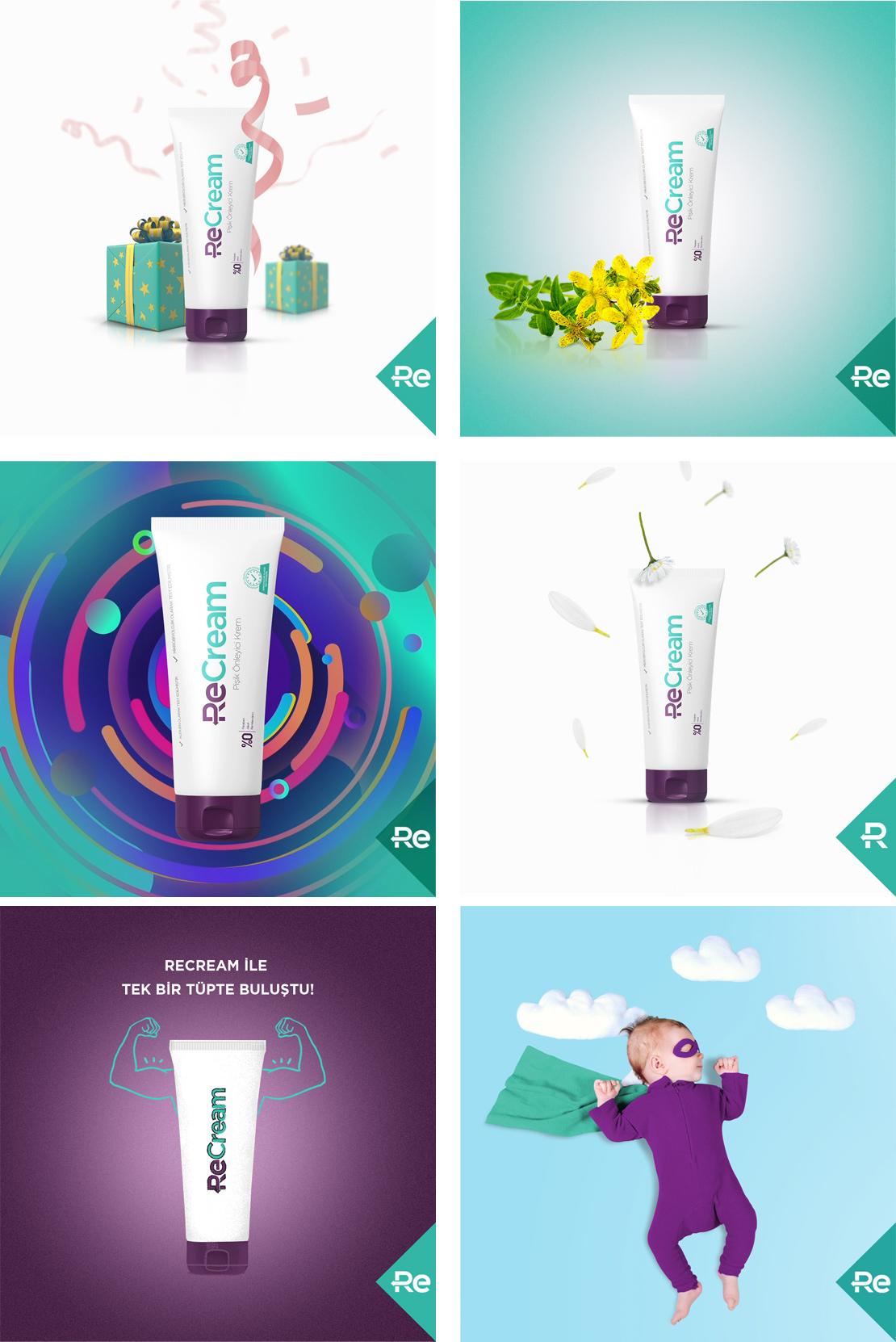 ReCream marka oluşturma ve web sitesi